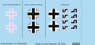 Focke Wulf Fw 190 A-8/R2 - National insignia [Eduard] · EDU D72018 ·  Eduard · 1:72