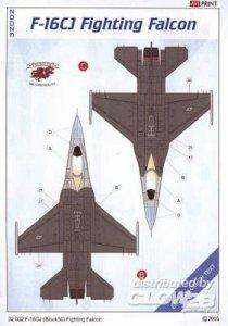 F-16CJ Fighting Falcon · EDU EAV32002 ·  Eduard · 1:32