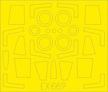 F-104J Starfighter - TFace [Kinetic] · EDU EX669 ·  Eduard · 1:48