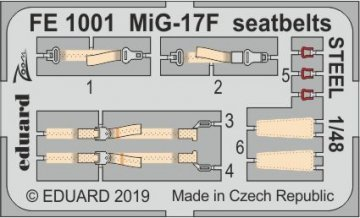 MiG-17F - Seatbelts STEEL [HobbyBoss] · EDU FE1001 ·  Eduard · 1:48