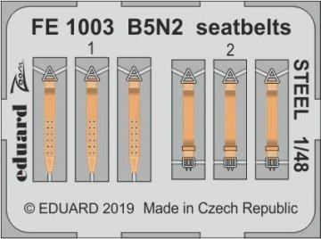 B5N2 Kate - Seatbelts STEEL [Hasegawa] · EDU FE1003 ·  Eduard · 1:48