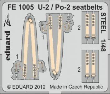 U-2 / Po-2 - Seatbelts STEEL [ICM] · EDU FE1005 ·  Eduard · 1:48