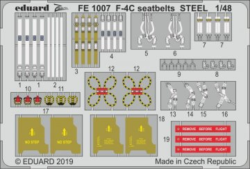 Phantom F-4C - Seatbelts STEEL [Academy] · EDU FE1007 ·  Eduard · 1:48