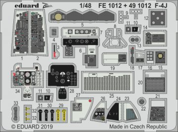 Phantom F-4J [Academy] · EDU FE1012 ·  Eduard · 1:48