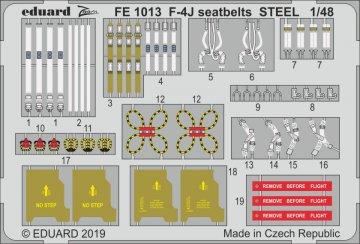 Phantom F-4J - Seatbelts STEEL [Academy] · EDU FE1013 ·  Eduard · 1:48