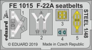F-22A Raptor - Seatbelts STEEL [Hasegawa] · EDU FE1015 ·  Eduard · 1:48
