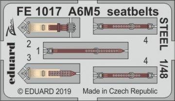 A6M5 Zero - Seatbelts STEEL [Tamiya] · EDU FE1017 ·  Eduard · 1:48