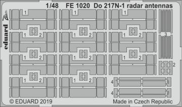 Dornier Do 217 N-1 - Radar antennas [ICM] · EDU FE1020 ·  Eduard · 1:48