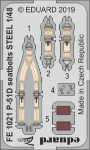 P-51D - Seatbelts STEEL [Eduard] · EDU FE1021 ·  Eduard · 1:48