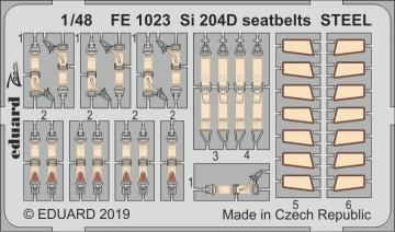 Siebel Si 204D - Seatbelts STEEL [Special Hobby] · EDU FE1023 ·  Eduard · 1:48