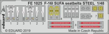 F-16I SUFA - Seatbelts STEEL [Hasegawa] · EDU FE1025 ·  Eduard · 1:48