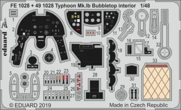 Typhoon Mk.Ib Bubbletop [Hasegawa/Italeri] · EDU FE1028 ·  Eduard · 1:48