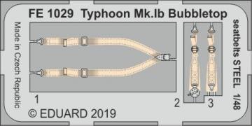 Typhoon Mk.Ib Bubbletop - Seatbelts STEEL [Hasegawa/Italeri] · EDU FE1029 ·  Eduard · 1:48
