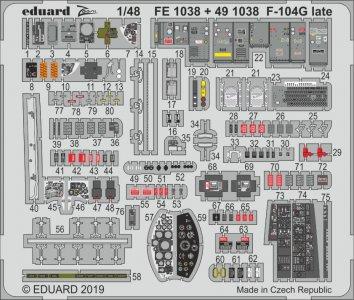F-104G Starfighter late [Kinetic] · EDU FE1038 ·  Eduard · 1:48