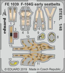 F-104G Starfighter early - Seatbelts STEEL [Kinetic] · EDU FE1039 ·  Eduard · 1:48