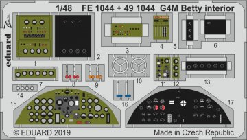 G4M Betty - Interior [Tamiya] · EDU FE1044 ·  Eduard · 1:48