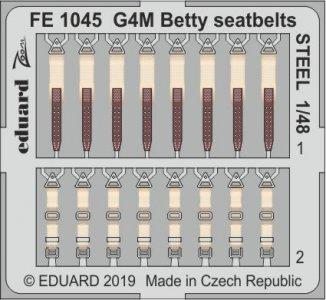 G4M Betty - Seatbelts STEEL [Tamiya] · EDU FE1045 ·  Eduard · 1:48