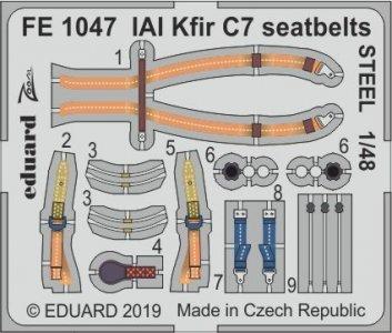 IAI Kfir C7 - Seatbelts STEEL [AMK] · EDU FE1047 ·  Eduard · 1:48