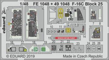 F-16C Block 25 [Tamiya] · EDU FE1048 ·  Eduard · 1:48