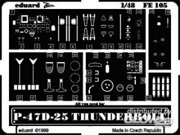 P-47 D-25 Thunderbolt · EDU FE105 ·  Eduard · 1:48