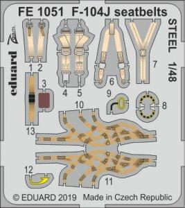F-104J Starfighter - Seatbelts STEEL [Kinetic] · EDU FE1051 ·  Eduard · 1:48