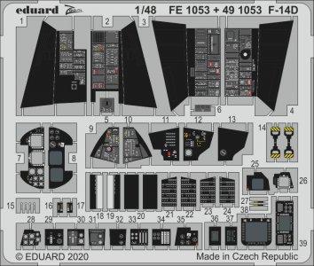 F-14D Tomcat [AMK] · EDU FE1053 ·  Eduard · 1:48
