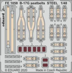 B-17G - Seatbelts STEEL [HKM] · EDU FE1058 ·  Eduard · 1:48