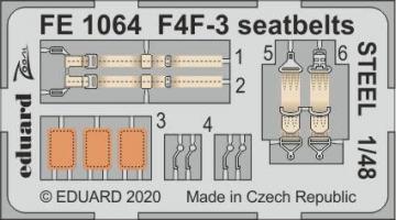 F4F-3 Wildcat - Seatbelts STEEL [HobbyBoss] · EDU FE1064 ·  Eduard · 1:48