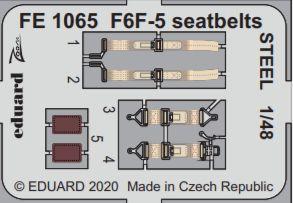 F6F-5 - Seatbelts STEEL [Eduard] · EDU FE1065 ·  Eduard · 1:48