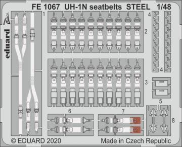 UH-1N Twin Huey - Seatbelts STEEL [Kitty Hawk] · EDU FE1067 ·  Eduard · 1:48