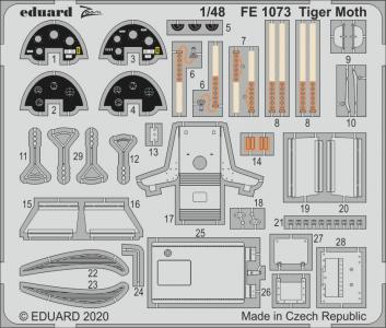 Tiger Moth [Airfix] · EDU FE1073 ·  Eduard · 1:48