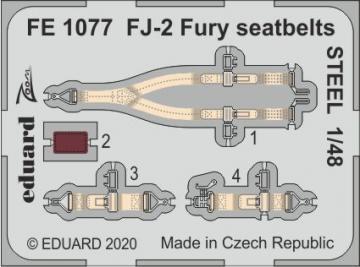 FJ-2 Fury - Seatbelts STEEL [Kitty Hawk] · EDU FE1077 ·  Eduard · 1:48