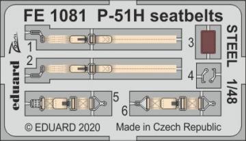 P-51H Mustang - Seatbelts STEEL [Modelsvit] · EDU FE1081 ·  Eduard · 1:48