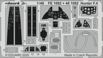 Hunter F.4 [Airfix] · EDU FE1082 ·  Eduard · 1:48