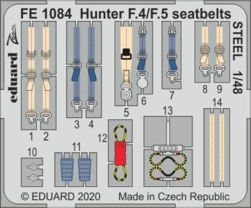 Hunter F.4/F.5 - Seatbelts STEEL [Airfix] · EDU FE1084 ·  Eduard · 1:48