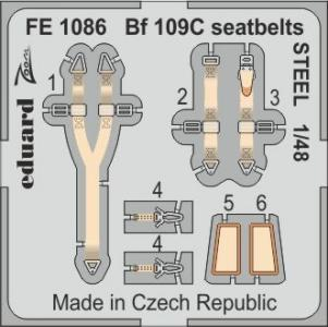 Messerschmitt Bf 109C - Seatbelts STEEL [Modelsvit] · EDU FE1086 ·  Eduard · 1:48