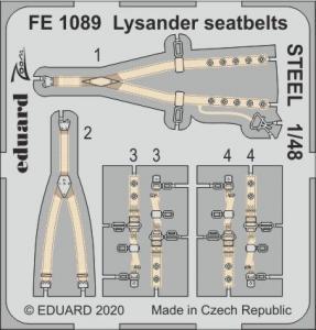 Lysander - Seatbelts STEEL [Eduard] · EDU FE1089 ·  Eduard · 1:48