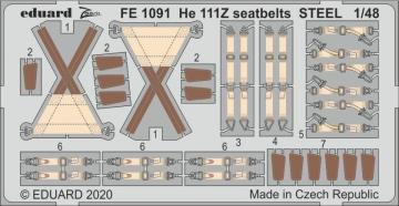 Heinkel He 111Z - Seatbelts STEEL [ICM] · EDU FE1091 ·  Eduard · 1:48