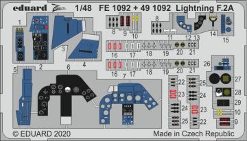 Lightning F.2A [Airfix] · EDU FE1092 ·  Eduard · 1:48