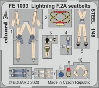 Lightning F.2A - Seatbelts STEEL [Airfix] · EDU FE1093 ·  Eduard · 1:48
