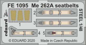 Messerschmitt Me 262A - Seatbelts STEEL [HobbyBoss] · EDU FE1095 ·  Eduard · 1:48