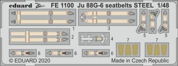 Junkers Ju 88 G-6 - Seatbelts STEEL [Dragon] · EDU FE1100 ·  Eduard · 1:48