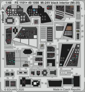 Mi-24V - Black interior (Mi-35) [Zvezda] · EDU FE1101 ·  Eduard · 1:48