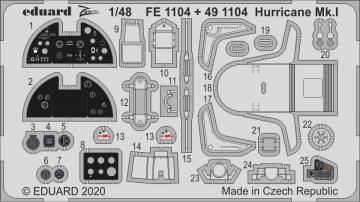 Hurricane Mk.I [Airfix] · EDU FE1104 ·  Eduard · 1:48