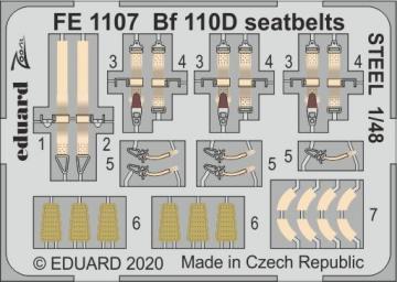 Messerschmitt Bf 110D - Seatbelts STEEL [Dragon] · EDU FE1107 ·  Eduard · 1:48