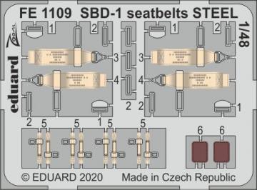SBD-1 - Seatbelts STEEL [Academy] · EDU FE1109 ·  Eduard · 1:48