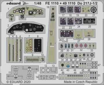 Dornier Do 217J-1/2 [ICM] · EDU FE1110 ·  Eduard · 1:48