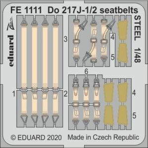 Dornier Do 217J-1/2 - Seatbelts STEEL [ICM] · EDU FE1111 ·  Eduard · 1:48