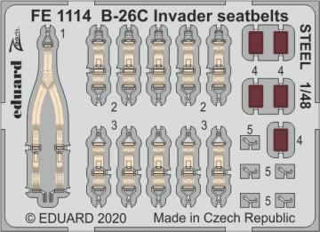 B-26C Invader - Seatbelts STEEL [ICM] · EDU FE1114 ·  Eduard · 1:48