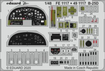 B-25D Mitchell [Revell] · EDU FE1117 ·  Eduard · 1:48